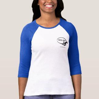 Custom Logo Women's Blue Raglan T-Shirt