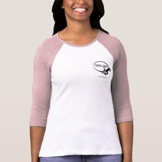 Custom Logo Women's Pink Raglan T-Shirt