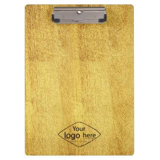 custom logo wooden texture clipboard