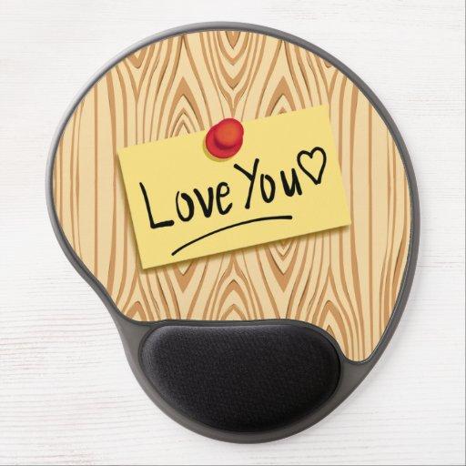 Custom LOVE MESSAGE- LOVE post-it Pad Gel Mouse Pad