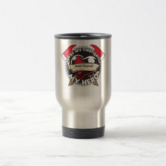 Custom Love My Firefighter Travel Mug