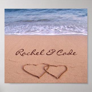 Custom Love on the Beach Poster