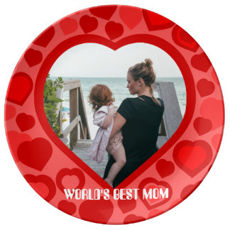 Custom love photo for the ones you love porcelain plate