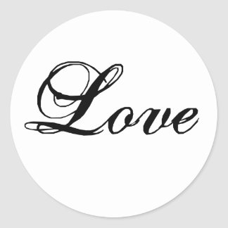 Custom Love Stickers for Wedding Favours