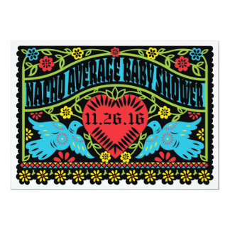 Custom Lovebirds Papel Picado Banner Card