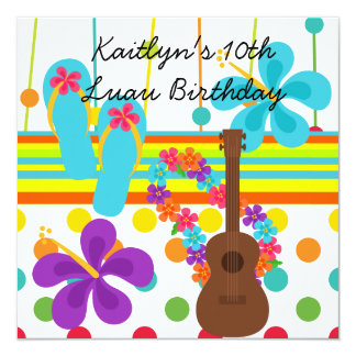 Custom Luau Birthday Invitation