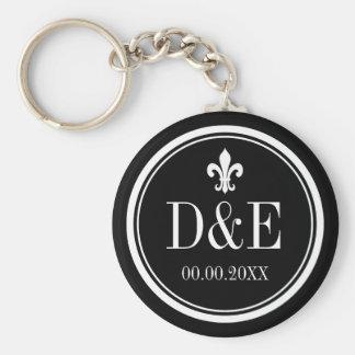 Custom luxury monogram wedding favor keychains