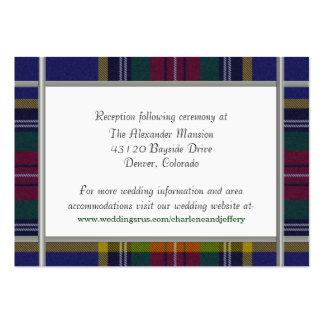 Custom MacBeth Plaid Wedding Enclosure Card Business Card Template