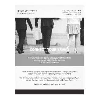 Custom Made Business Themed Black and White Flyer