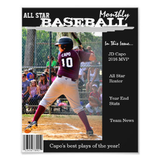 Custom Magazine Cover for Sports Photo Print