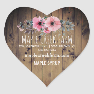 Custom Maple Syrup Business Product Label