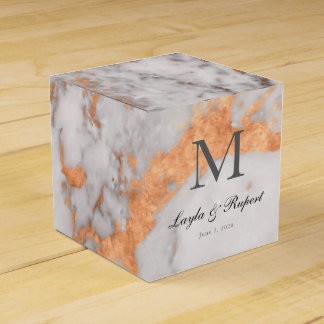 Custom Marble & Copper Wedding Favor Box Wedding Favour Boxes