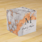 Custom Marble & Copper Wedding Favour Box