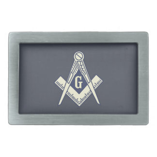 Custom Masonic Blue Lodge Belt Buckle Rectangle