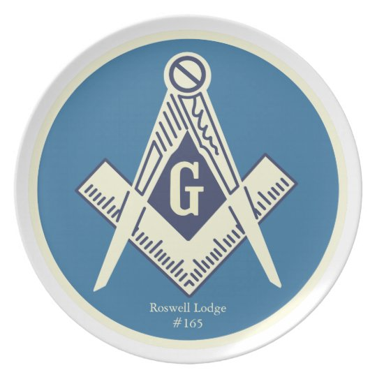 Custom Masonic Blue Lodge Dinner Plates