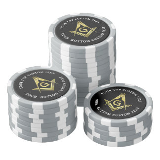 Custom Masonic Poker Chips | Square and Compass
