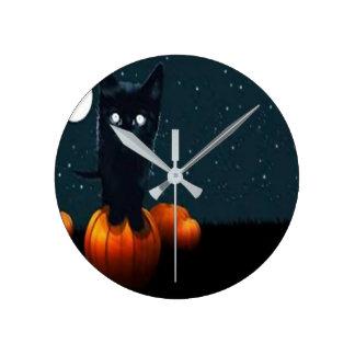 custom, med, wall clock, holiday round clock
