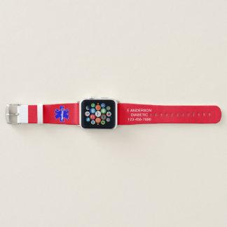 Custom Medical Identification Emergency Alert Apple Watch Band