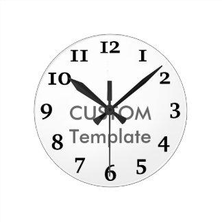 "Custom Medium 8"" Round Wall Clock CHARTER"