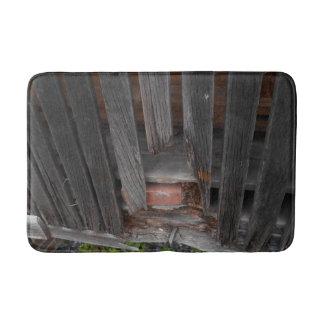 Custom Medium Bath Mat with old wood & brick Bath Mats
