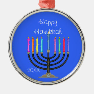 CUSTOM MENORAH &  HANUKKAH Ornament/STAR OF DAVID Metal Ornament