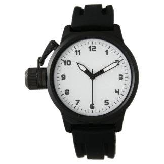 Custom Men's Crown Protector Black Rubber Strap Watch