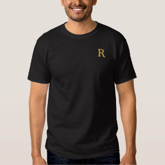 Custom Mens Embroidered Faux Gold Monogram T-Shirt