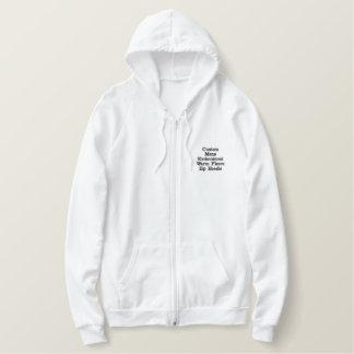 Custom Mens Embroidered  Warm Fleece Zip Hoodie