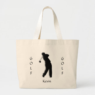 Custom Mens Golf Silhouette Tote Bag