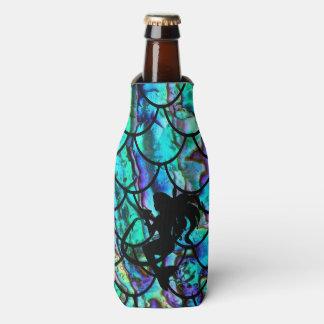 Custom Mermaid Scales with Mermaid on a Hook Bottle Cooler