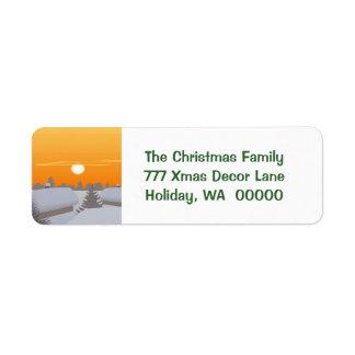 Custom Merry Christmas Envelopes Address Stickers Return Address Label