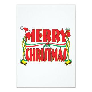 "Custom Merry Christmas Invitation Card Stamp Label 3.5"" X 5"" Invitation Card"