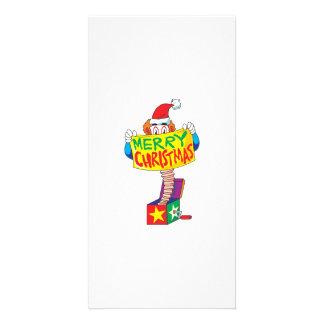 Custom Merry Christmas Jack in a Box Wind Up Cards Custom Photo Card