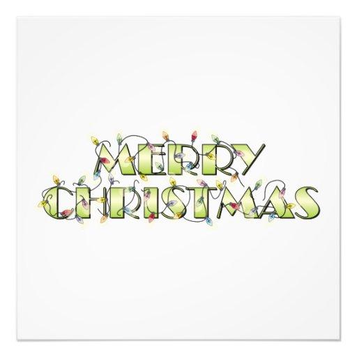 Custom Merry Christmas Lights Greeting Cards Folio Photo