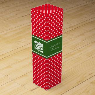 Custom Merry Christmas party favor wine gift box
