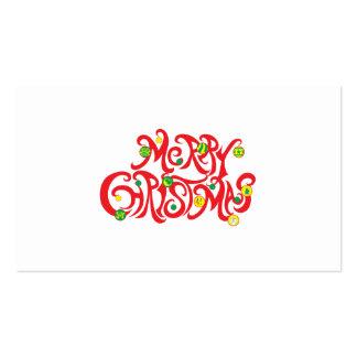 Custom Merry Christmas with Christmas Balls Business Card Template