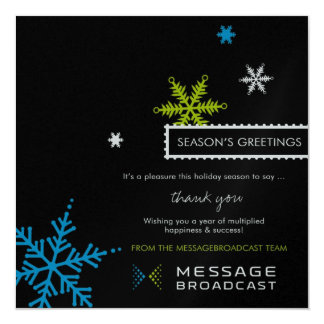 Custom Message Broadcast Holiday Card 13 Cm X 13 Cm Square Invitation Card