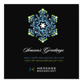 Custom Message Broadcast Holiday Card 2 13 Cm X 13 Cm Square Invitation Card