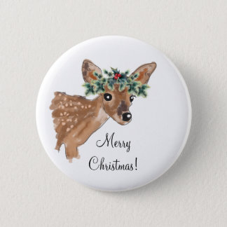 Custom Message Christmas Deer Buttons