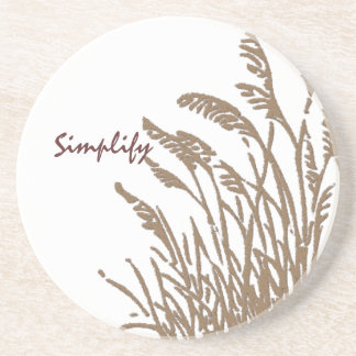 Custom Message on Field of Wheat - Simplify Beverage Coaster