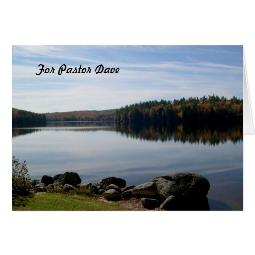 Custom Message, Pastor Appreciation Lake View Greeting Card