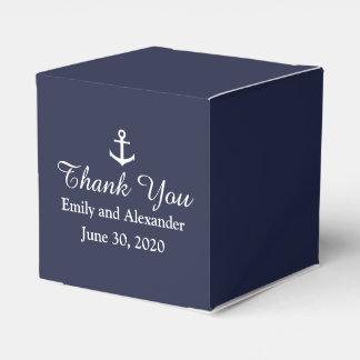 Custom Midnight Blue and White Nautical Wedding Favour Box