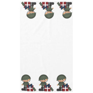 Custom Military Soldier Christmas Tablecloth