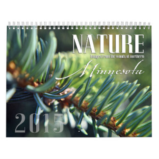 Custom Minnesota Nature Calendar for 2015