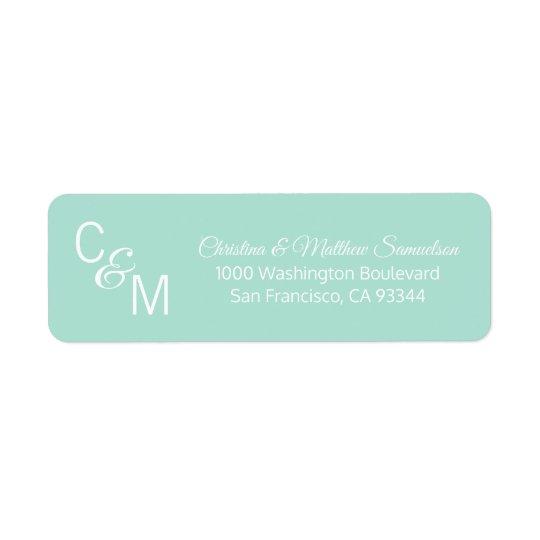 Custom Mint Green Grey Vine Wedding Return Address Return Address Label