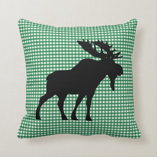 Custom Mint Moose Throw pillow