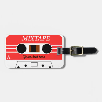 Custom Mixtape Luggage Tag
