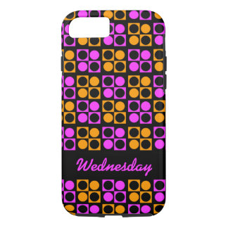Custom Mod Pink Orange Circles Squares iPhone Case