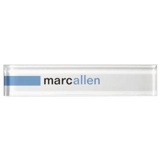 Custom Modern 519 (WB) Desk Name Plates