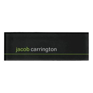 Custom Modern Micro Stripe Name Tag